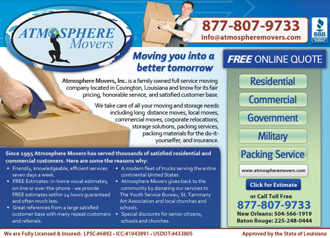 Atmosphere Movers Inc - Covington, LA