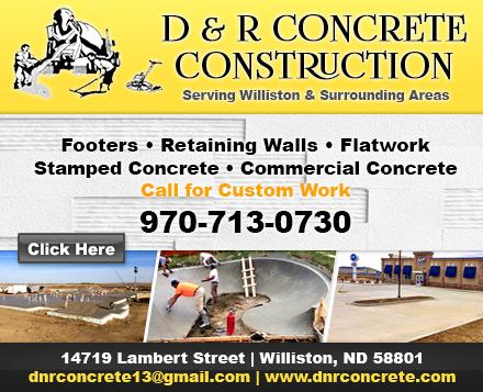 D & R Concrete Construction, LLC | Concrete Contractors Minot NDYellow Page Ad